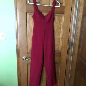 Formal red jumpsuit